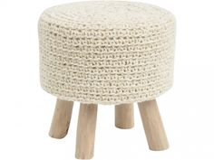 Hand crafted with wool and reclaimed wood legs, our Pumice Stone Knit Wool Stool provides comfort as a footstool or impromptu seating. This boho chic knit wool stool is both stylish and functional. Pouf Ottoman, Knitted Ottoman, Ottoman Cover, Decorative Accessories, Home Accessories, Blonde Wood, Upholstered Furniture, Rattan Furniture, Accent Furniture