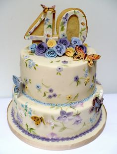Vintage Butterfly Cake