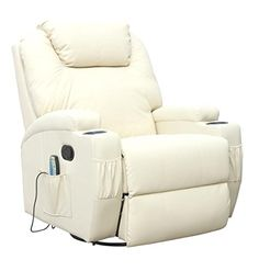 CINEMO 9 in 1 Leather Recliner Chair Rocking Adjustable H…