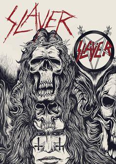 Slayer tribute on Behance