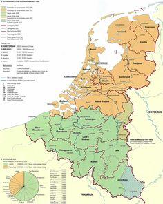 Koning Willem I: Kaart: Koninkrijk der Nederlanden 1815-1840 | entoen.nu