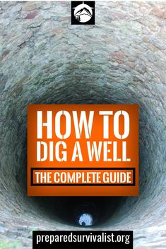 How To Dig A Well - Any true prepper should start digging a well on their property. Water won't run from the tap in case a disaster strikes. Survival Shelter, Survival Food, Wilderness Survival, Survival Prepping, Survival Skills, Survival Hacks, Emergency Planning, Bushcraft Skills, Emergency Preparation