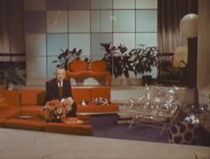 Mid Century Living Room 1967 Walter Cronkite tours Home of the Future