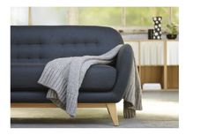 For the home on pinterest ikea habitats and eames for Canape gris ikea