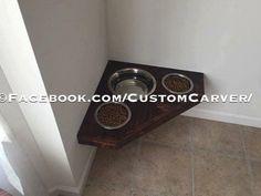 Floating Dog Bowls. Raised Dog Bowls. Wall mounted. Labs/