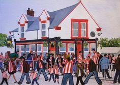 #SAFC Sunderland Afc, Football Team, Painting, Art, Art Background, Football Squads, Painting Art, Kunst, Paintings
