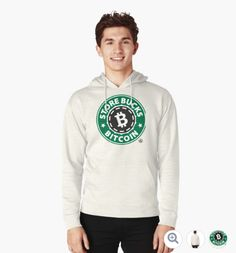 Store Bucks Bitcoin Hoodie (pullover) designed by Andras Balogh