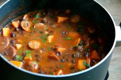 Smoky Black Bean & Sweet Potato Soup