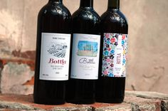 decorate your home made wine with bottlabel.com