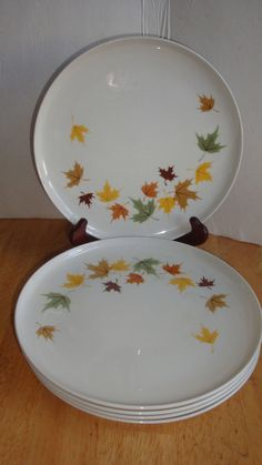 """FRANCISCAN CHINA INDIAN SUMMER 8 3/8"""" LUNCHEON  OR SALAD PLATES LOT OF 5 #FRANCISCAN"""