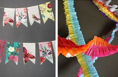 Even More DIY Decorations! Paper Bunting, Fabric Garland, Diy Party Garland, Teaching Art, Teaching Ideas, Rainbow Parties, Party In A Box, Paper Decorations, Cool Diy