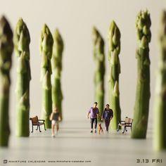 Morning walk. Miniature photography