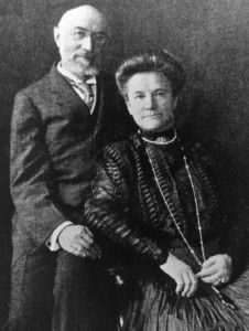 Isidor and Ida Straus... Isador was co-owner of Macy's Department store in NYC when he and his wife died aboard Titanic