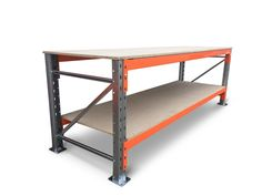 Made from high quality racking and and wilth ample bench and storage space, this heavy duty workbench is built to handle all the tough jobs. New Steel Pallet Racking Frame. | eBay!