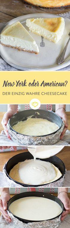 Ein Cheesecake ist kein Käsekuchen - so viel ist klar. Er wird mit Frischkäse und Sahne oder Créme fraîche zubereitet und im Wasserbad gebacken. So geht's.