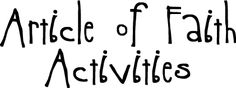 Article of Faith Activities