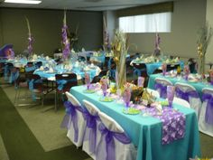 under the sea party- colors and centerpieces