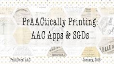 Whether you are working with a traditional SGD or an AAC app, chances are, you want to print a 'no tech' version for modeling and/or as a backup communication aid. We've shared printable communica…