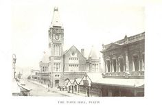Town Hall, Perth. Image taken from page 183 of 'Western Australia in 1891. By Francis Hart.