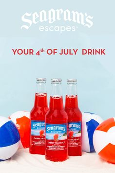 Fun Drinks, Beverages, Wine Mixed Drinks, Ocean Spray Cranberry, Outdoor Party Games, Alcoholic Desserts, 4th Of July Desserts, Alcohol Drink Recipes, Italian Ice