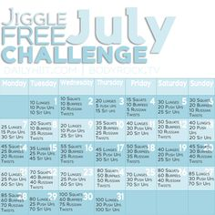 Jiggle Free July Monthly Challenge
