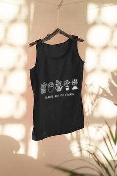 Add some cuteness to your wardrobe with this great design Plants are my friends or give it as the perfect gift! Choose your size and color below then BUY IT NOW to place your order. Kickboxing, My Friend, Friends, Tees, Shirts, Unisex, Tank Tops, Stuff To Buy, How To Wear