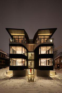 Hokkaido-based architecture studio Atelier BNK's recent project Yasuragi by Odin.