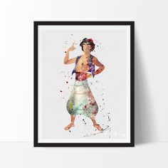 Aladdin Watercolor Art Print, by VividEditions.com