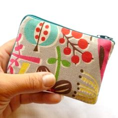 Make a zippered card pouch for all your cards.
