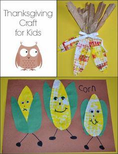 Indian Corn Thanksgiving Craft for Kids