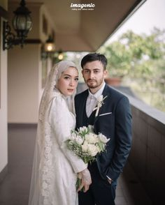 Wedding Farhad and Hamidah by Imagenic – 010 - Hochzeit Malay Wedding Dress, Kebaya Wedding, Muslimah Wedding Dress, Muslim Wedding Dresses, Muslim Brides, Hijab Bride, Wedding Hijab Styles, Simple Wedding Gowns, Wedding Poses