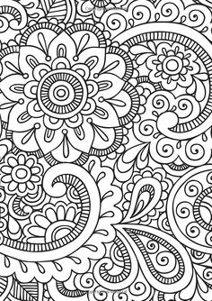 Easy Coloring Pages, Free Adult Coloring Pages, Mandala Coloring Pages, Free Printable Coloring Pages, Coloring Books, Doodle Patterns, Zentangle Patterns, Zentangles, Dibujos Zentangle Art