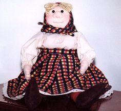 Old Woman Doll PDF Soft Sculpture Doll