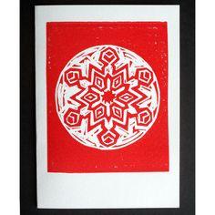 Christmas Card - Snowflake (Linocut) £2.00