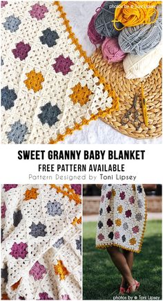 Sweet Granny Baby Blanket Idea Sweet Granny Baby Blanket Idea Granny Baby Blanket Idea Make crochet blankets your self Who doesn't love a blanket where you can mask and w. Crochet Squares, Crochet Blanket Patterns, Crochet Granny, Baby Blanket Crochet, Diy Crochet, Baby Granny Square Blanket, Granny Granny, Afghan Blanket, Crochet Afghans