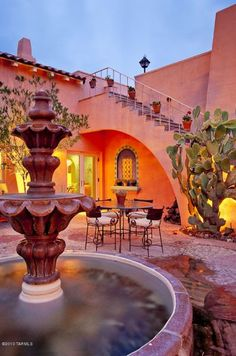 I have always wanted to live with extended family in a hacienda style home, meet for coffee in the inner courtyard. LB