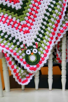 Crocheted Owl Baby Blanket-Crib Blanket-Ready To Ship by InChains