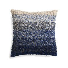 "Sassafras Blue 20"" Pillow   Crate and Barrel"