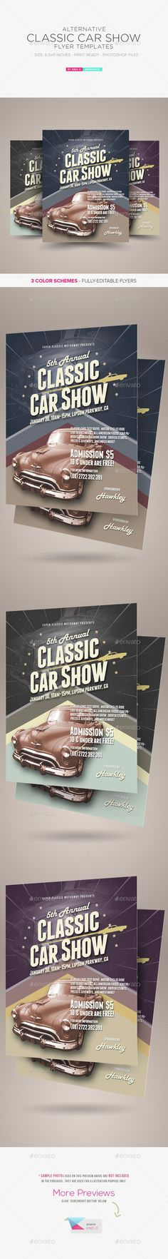Alternative Classic Car Show Flyers
