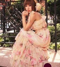Blumen Maxi Kleid   US$ 12.16 (€ 9,24)