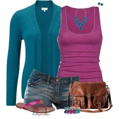 Teal & Fuschia by bitbyacullen on Polyvore featuring polyvore, fashion, style, CC, Tory Burch, H&M, Aris by Treska, John Lewis, American Eagle Outfitters and clothing