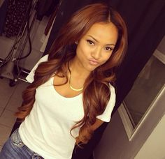 Karouche Trans (Chris browns ex girlfriend after Rihanna) coppery dark brown is gorgeous