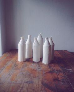 FH Porcelain plain bottles. www.farahhernandez.co.za