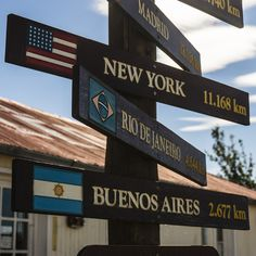 patagonia:    A sign at the rest stop between El Calafate and El Chalten in Patagonia. Photo by Mikey Schaefer