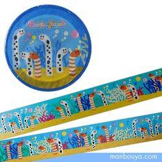 チンアナゴとニシキアナゴがいっぱい!珊瑚のバックでとてもカラフルで楽しいデザインのマスキングテープ。 デコレーションにラッピングに。貼って剥がせる、おしゃれな和紙素材テープ。玩具メーカー「ザ・アクセス(TheACCESS)」さんの商品です。【サイズ】幅15mm×10m関連タグ:/柄和紙/シール/水族館グッズ/お土産/海の生き物/仲間/海洋生物/雑貨/動物/プレゼント/人気/マリン/文房具/ステッカー/manbouya.com/デコレーションテープ/ラッピング/マステ/アクアリウム/鯨鮫/鯨鯊/可愛的//貼紙/企鵝