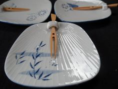 Tapas or Sushi Plates by Lillian Vernon  by ChicAvantGarde on Etsy