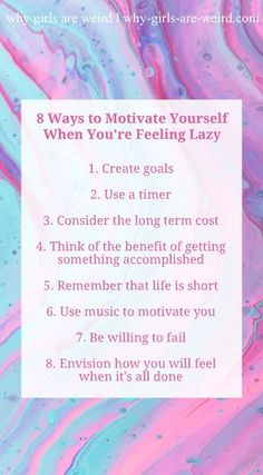 8 Ways to Motivate Yourself When You're Feeling Lazy - Why Girls Are Weird #motivation #lazy #wiblogger #lifestyleblogger #30somethingblogger Mental Health Check, Mental Health Quotes, Awakening Quotes, Mental Problems, Feeling Lazy, Natural Lifestyle, Positive Outlook, Mindset Quotes, Self Care Routine