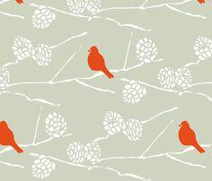 CARDINAL WINTER fabric by trcreative on Spoonflower - custom fabric