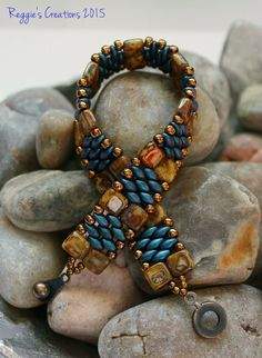 Tile beads and super duo bracelet