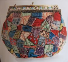 Antique patchwork bag.